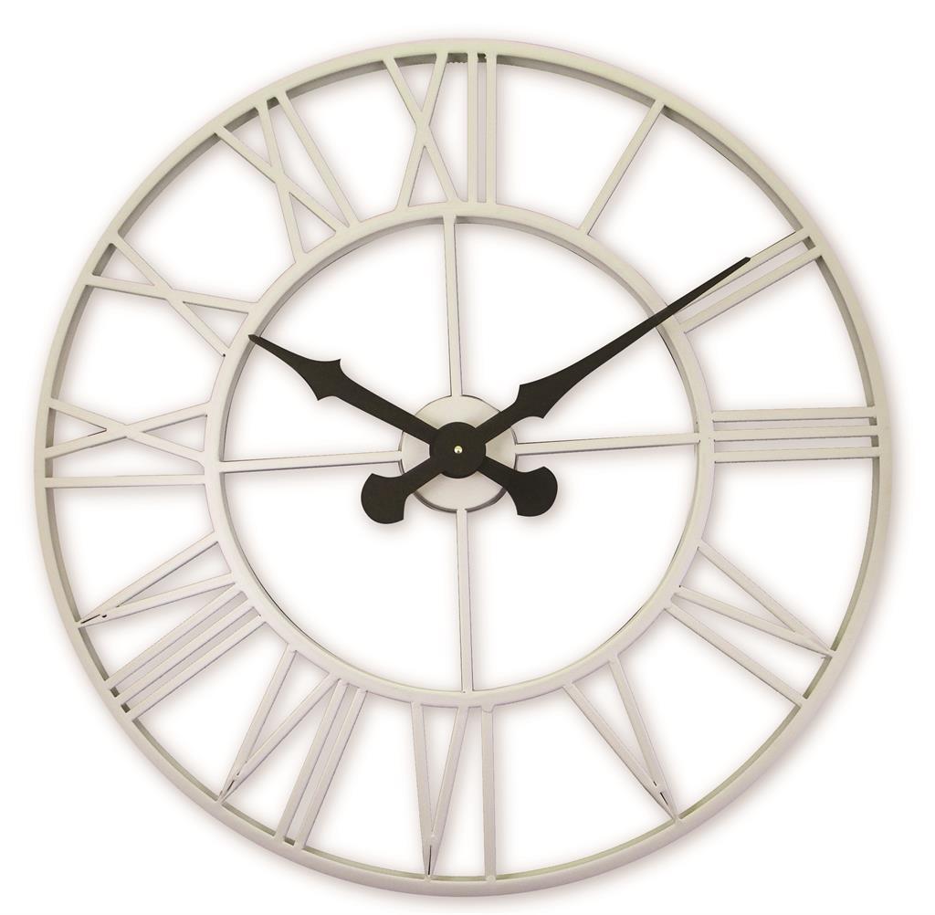 Cream Outdoor Indoor Clock With Metal Case 70cm