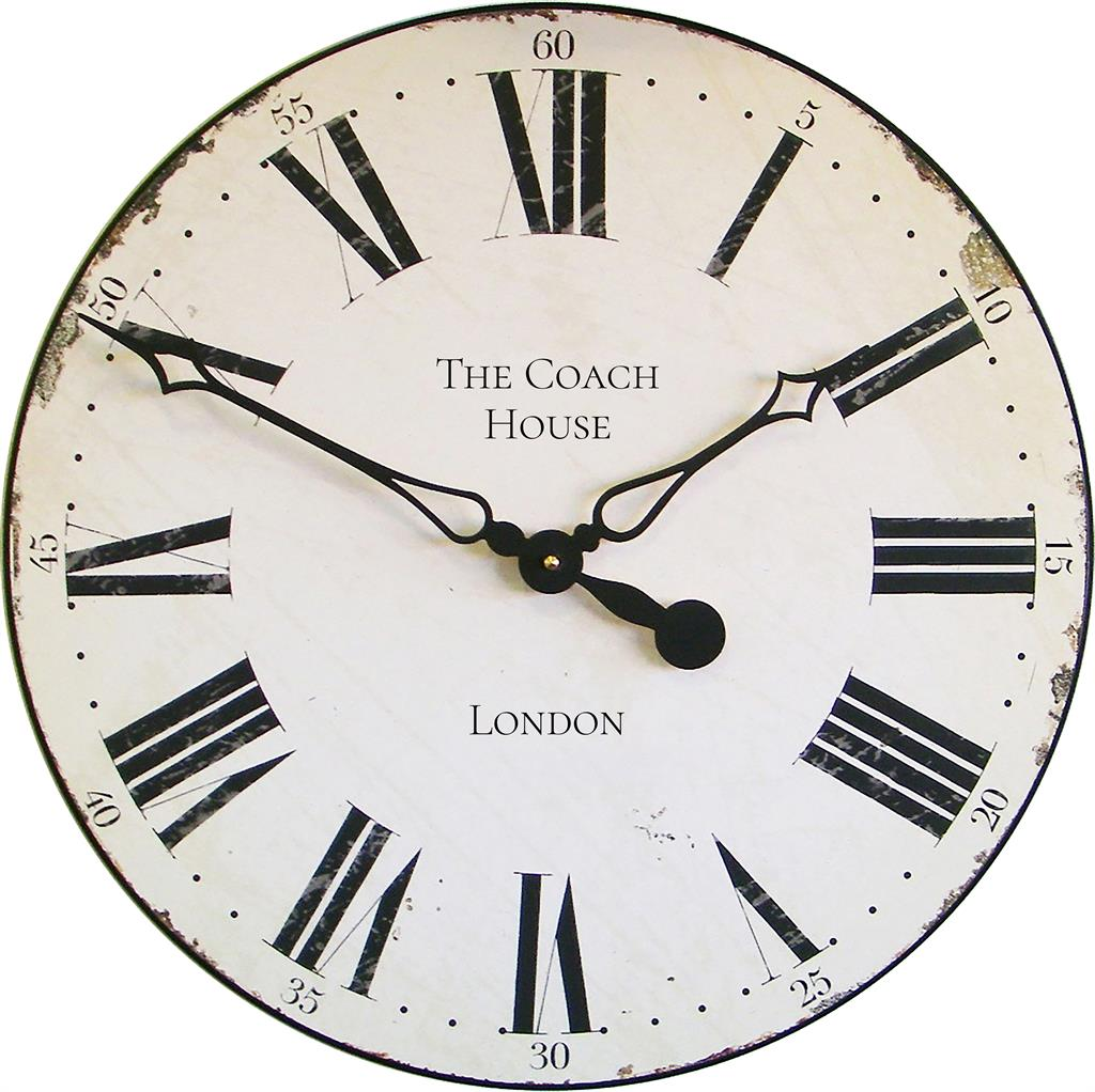 Personalised Smiths Antique Style Off White Wall Clock