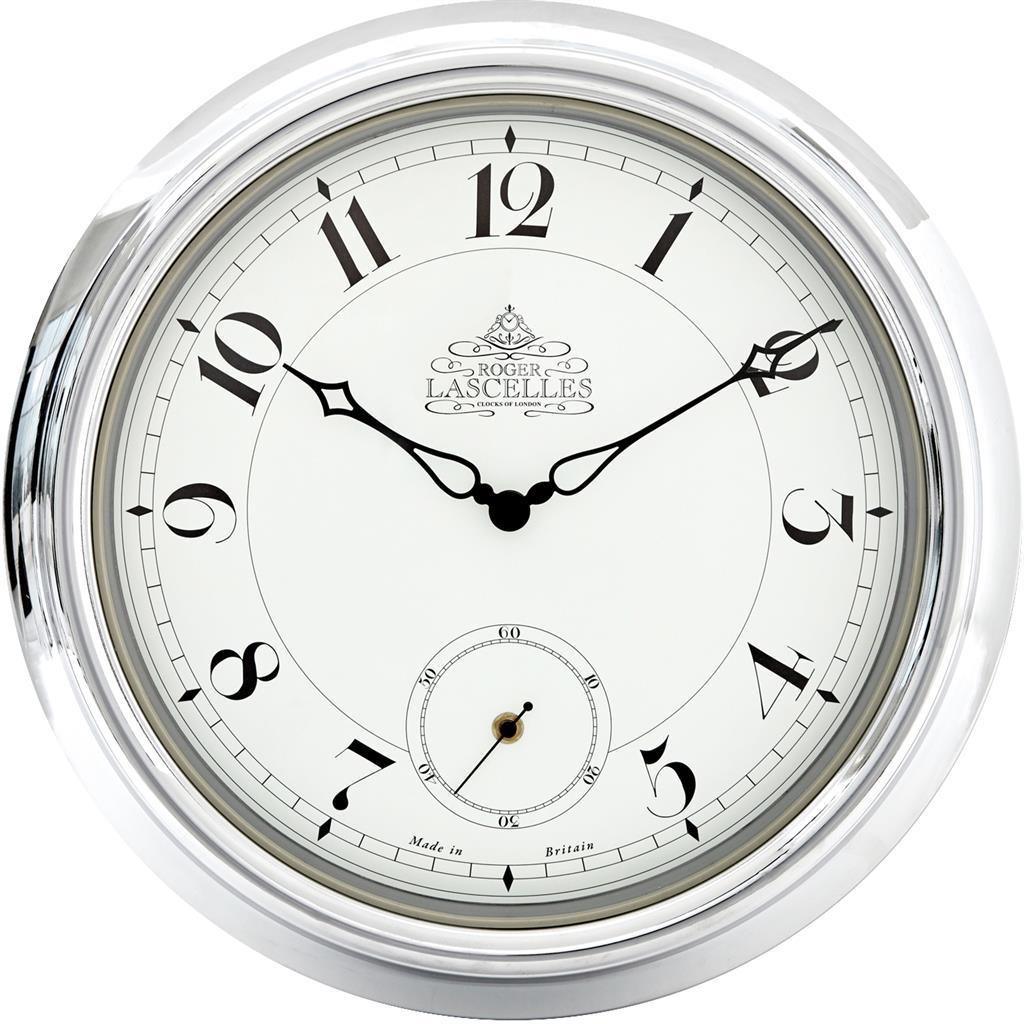 chrome station clock uk manufactured. Black Bedroom Furniture Sets. Home Design Ideas