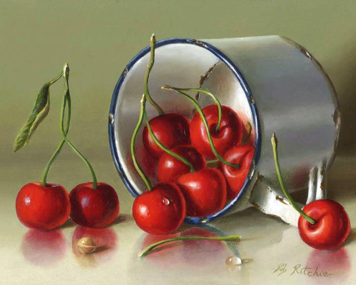 Cherries painting