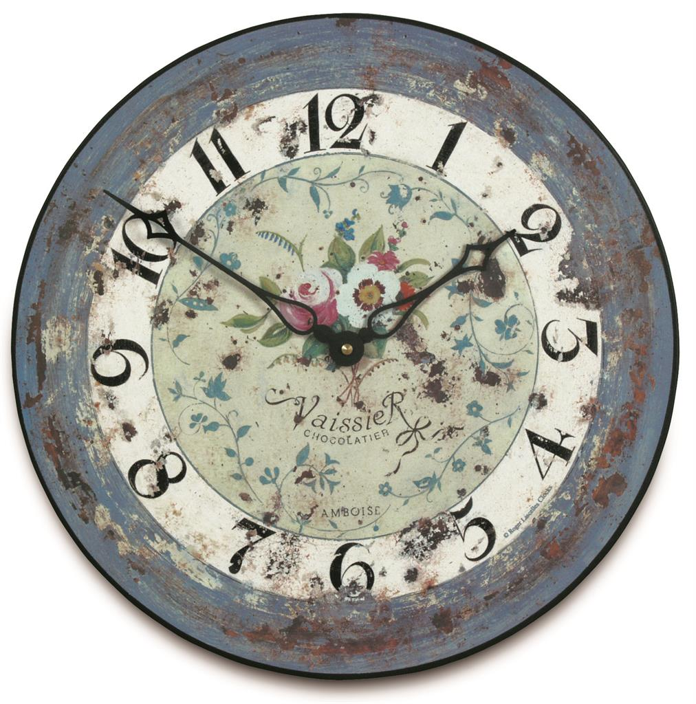 French Floral Wall Clock 36cm