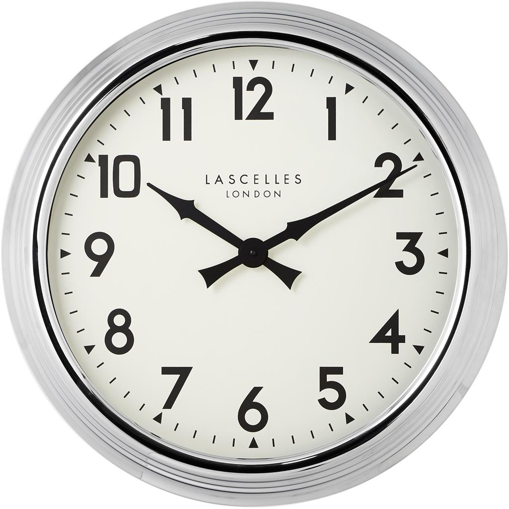 A Large Chrome Wall Clock 60cm