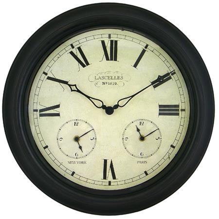 three time zones world clock 45cm