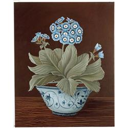 Blue Auricular in blue and white bowl