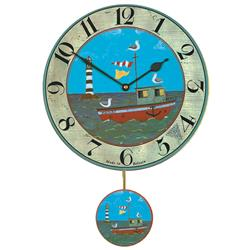 Henry's Boat Wall Clock with Pendulum - 28.5cm