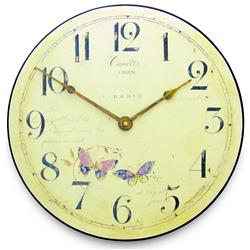 Butterfly Motif Wall Clock - 36cm