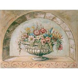 Fresco 'Flowers in Arch'