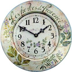 French Tin Herb Wall Clock