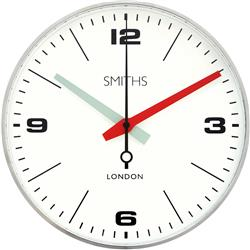 Chrome Smiths 'Drake' Wall clock  - 25.4cm