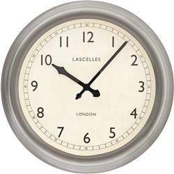 Large Metal Lascelles Clock with a Pewter Finish, 45cm