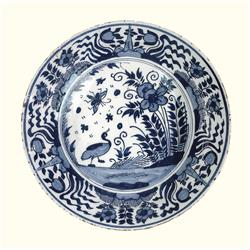 Blue and White Earthenware I (20 x 20