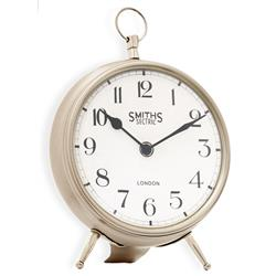 Smiths Mantel Chrome Clock Large - 25cm
