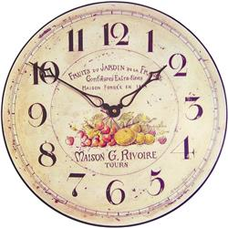 Garden Fruits French Wall Clock - 36cm