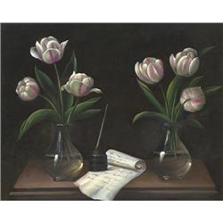 Tulips in Glass Vases