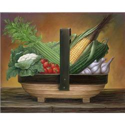 Trug Basket Vegetables (corn)