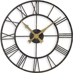 Outdoor/Indoor Clock with Metal Case - 50cm