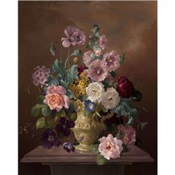 Still Life of Flowers in Vase