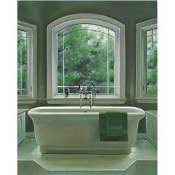 Cream Bath and Arch Window