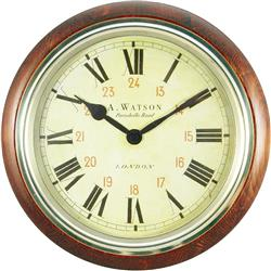 Classic Wooden Wall Clock, Watson Design - 26.7cm