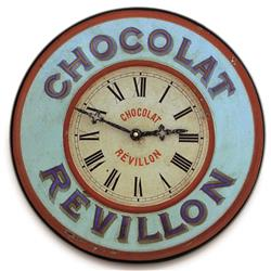 French 'Chocolate' Bistro Clock - 36cm