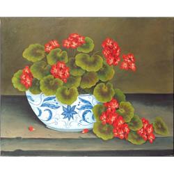 Bowl of Geraniums