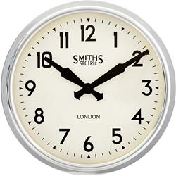 Chrome Smiths Retro Clock - 37cm