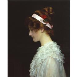 Girl Portrait with Victorian Headband