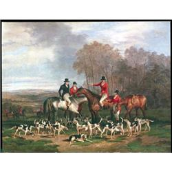 The meet (hunting scene)