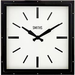 Black Smiths Deco Square Clock - 41cm