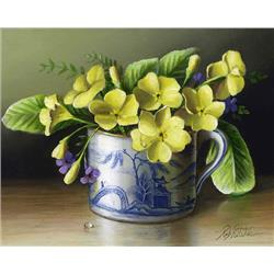 Chinese Cup with Primroses