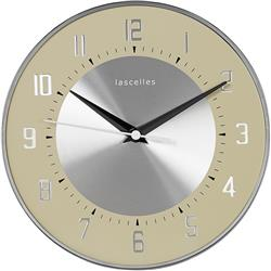 Deco Domed Clock, Cream - 20.5cm