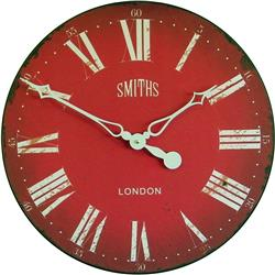 Smiths Wall Clock  Antique Style Red - 50cm