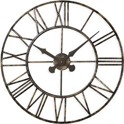 OUTDOOR/ INDOOR CLOCK WITH METAL CASE - 70CM