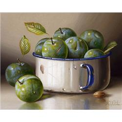 Pot with Green Plums