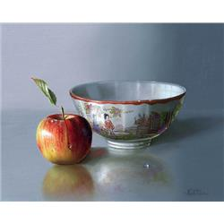 Chinese Bowl with an Apple