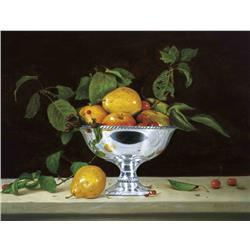Fruits in Silver Planter