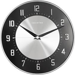 Deco Domed Clock, Black - 20.5cm