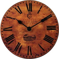 French Wine Chateau Clock - 15cm