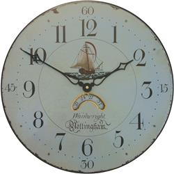 Ship Motif Wall Clock 'Notts' - 36cm
