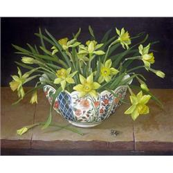 Daffodils in China Vase