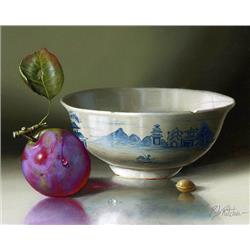 Chinese Bowl with a Plum