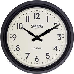 Black Smiths Retro  Clock - 37cm