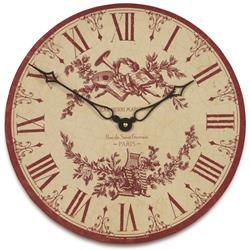 Toile Design Wall Clock - 36cm