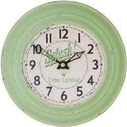Small Tin Wall Clock, Splash Dial - 18.5cm