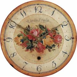 'Bouquet' Emilie Rose Wall Clock - 34cm