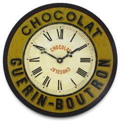 Chocolate Guerin-Boutron French Kitchen Wall Clock - 36cm