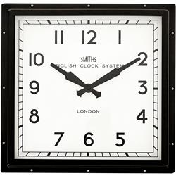 Black Smiths Square Clock  - 41cm