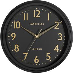 RETRO BLACK WALL CLOCK WITH SWEEP SECONDS HAND - 30CM