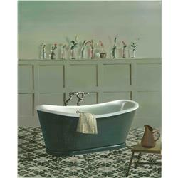 Grey Roll Top Bath and Vases