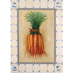 Carrots in Tile Border